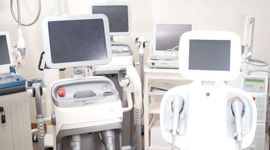 豊富な最新美容医療機器
